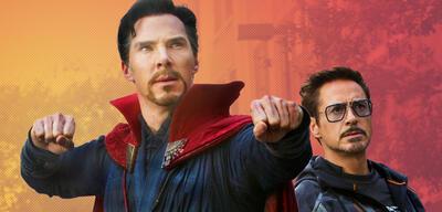 Doctor Strange und Tony Stark aka Iron Man in Avengers 3: Infinity War