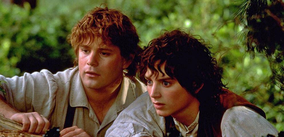 Der Herr der Ringe: Sean Astin als Sam und Elijah Wood als Frodo