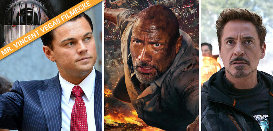 Leonardo DiCaprio, Dwayne Johnson, Robert Downey Jr.