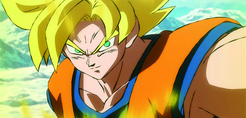 Son-Goku als Super-Saiyajin