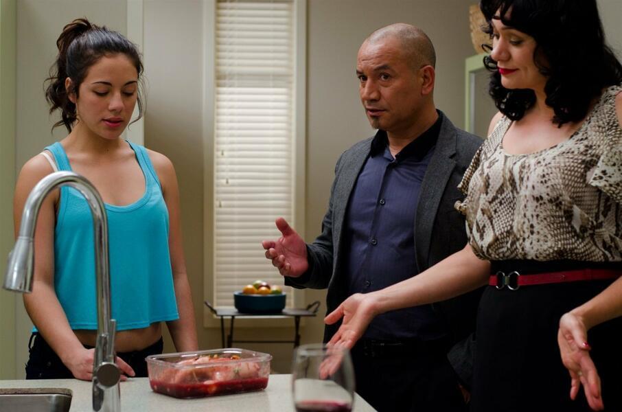 Fresh Meat mit Temuera Morrison, Nicola Kawana und Hanna Tevita