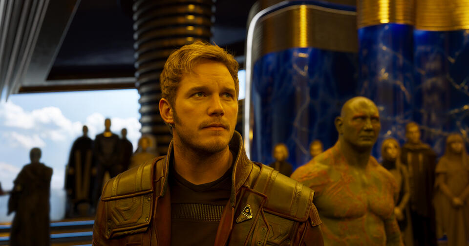 Guardians of the Galaxy Vol. 2 mit Chris Pratt und Dave Bautista