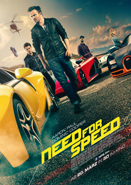 Need for Speed mit Aaron Paul und Scott Mescudi