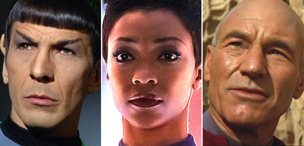 Mr. Spock, Michael Burnham, Jean-Luc Picard