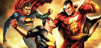 Bild zu:  Superman, Black Adam und Shazam