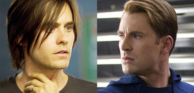 Jared Leto und Chris Evans