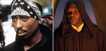 Tupac Shakur in Above The Rim/Samuel L. Jackson als Mace Windu