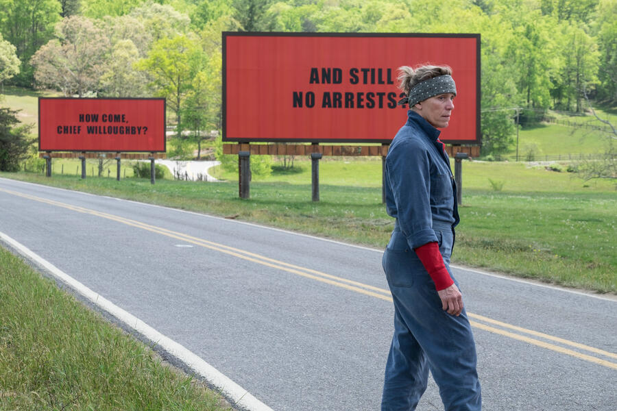 Three Billboards Outside Ebbing, Missouri mit Frances McDormand