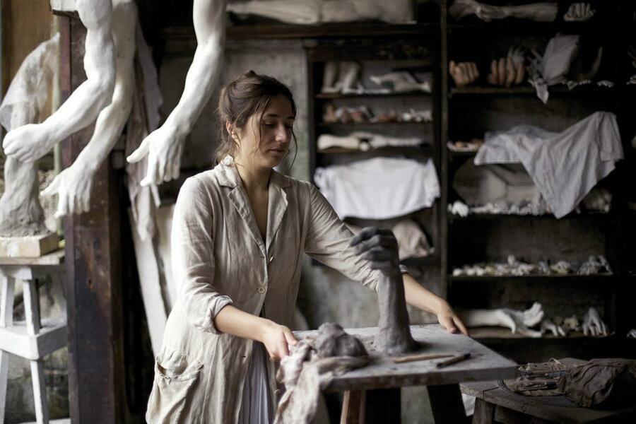Auguste Rodin mit Izïa Higelin