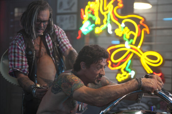 The Expendables mit Sylvester Stallone und Mickey Rourke