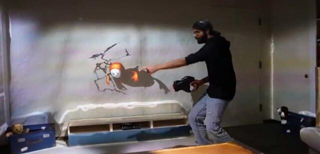 RoomAlive lässt uns mit Projektionen im gesamten Zimmer interagieren
