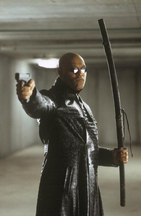 Matrix Reloaded mit Laurence Fishburne