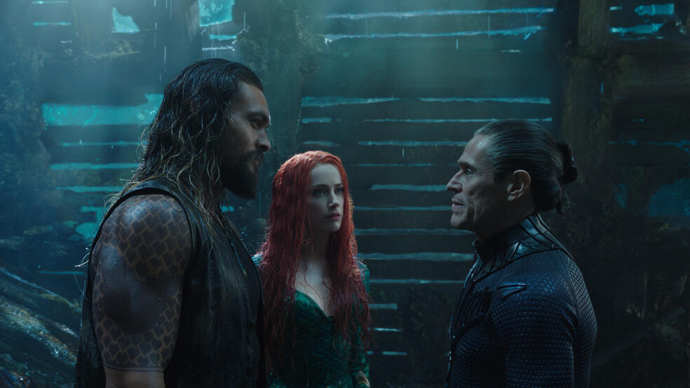 Aquaman mit Willem Dafoe, Amber Heard und Jason Momoa