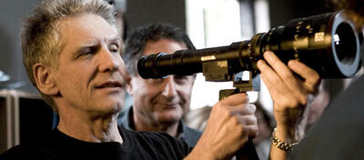 David Cronenberg am Set von A History of Violence