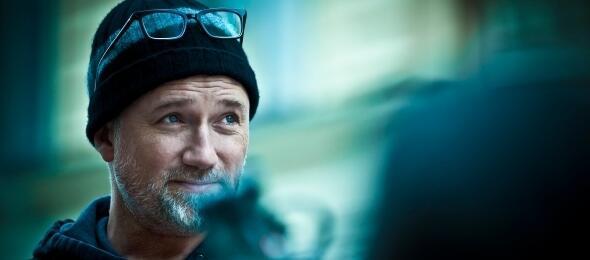 David Fincher am Set von Verblendung