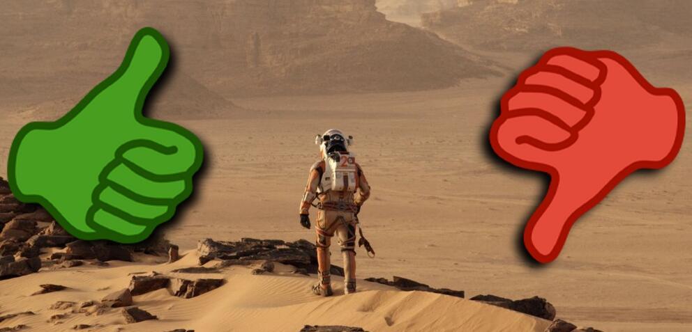 Matt Damon allein auf dem Mars in Der Marsianer