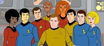 Die Crew der animierten Enterprise