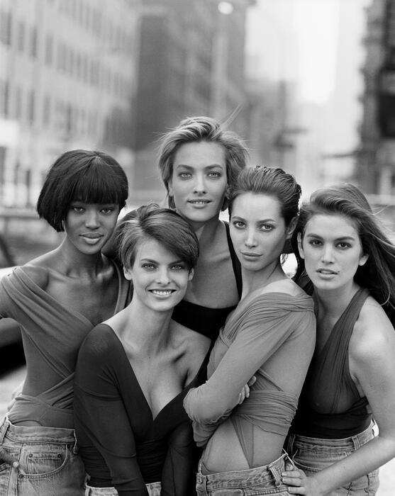 Peter Lindbergh - Women's Stories mit Cindy Crawford, Naomi Campbell, Tatjana Patitz, Christy Turlington und Linda Evangelista