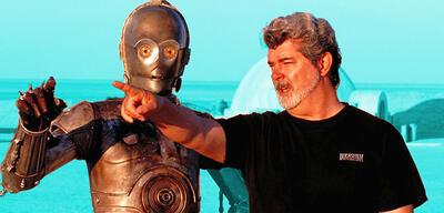 George Lucas beim Dreh der Prequel-Trilogie