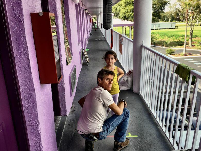 The Florida Project mit Willem Dafoe und Brooklynn Prince