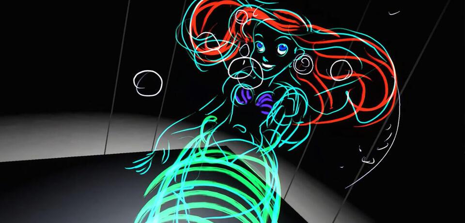 Arielle, gezeichnet mithilfe derTilt Brush-App desHTC Vive