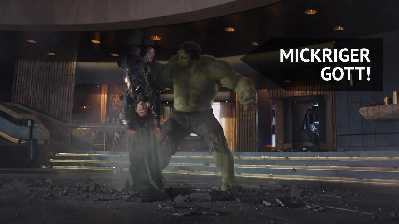 Marvel Zitat - Hulk: Mickriger Gott