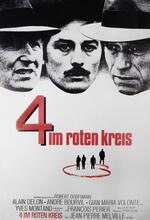 Vier im roten Kreis Poster
