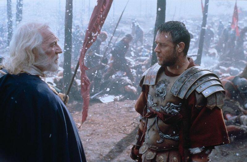 Gladiator mit Russell Crowe und Richard Harris