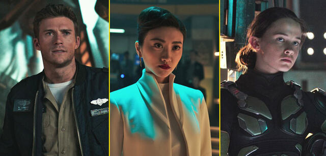 Scott Eastwood, Tian Jing und Cailee Spaeny in Pacific Rim 2: Uprising