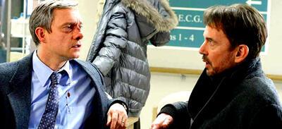 Martin Freeman als Lester Nygaard & Billy Thornton als Lorne Malvo | Fargo