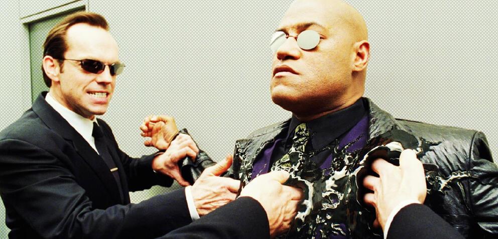 Laurence Fishburnes Morpheus wird aus der Matrix getilgt