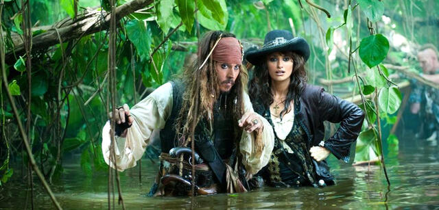 Johnny Depp und Penélope Cruz in Fluch der Karibik 4