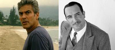 George Clooney und Jean Dujardin siegten als Beste Hauptdarsteller.