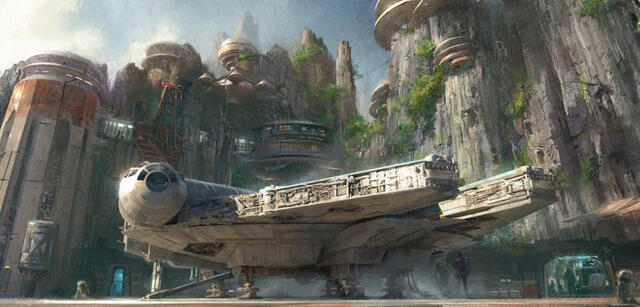 Concept Art zu den Star Wars Lands