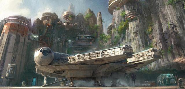 Concept Art zu den Star Wars Lands