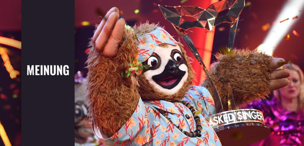Das Gewinner-Faultier in The Masked Singer
