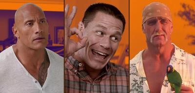 Dwayne Johnson, John Cena und Hulk Hogan