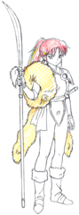 Setsuna in Yashahime: Princess Half-Demon