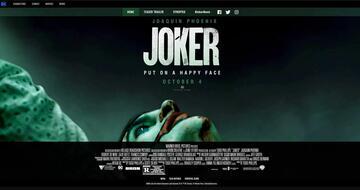 Joker - Screenshot der offiziellen Website
