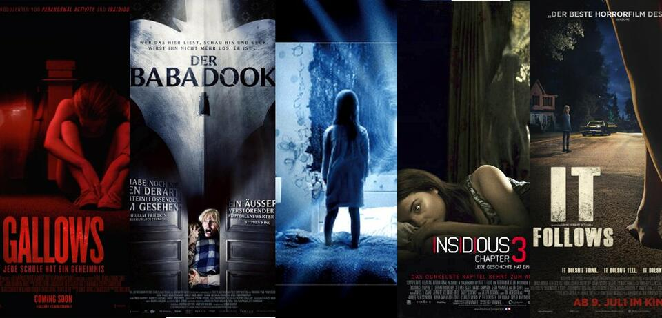 Gallows, Der Babadook, Paranormal Activity 5: Ghost Dimension, Insidious: Chapter 3, It Follows