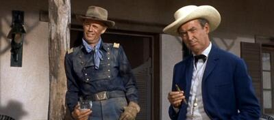 Richard Widmark und James Stewart