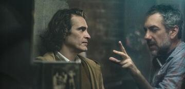 Joaquin Phoenix und Todd Phillips am Set von Joker