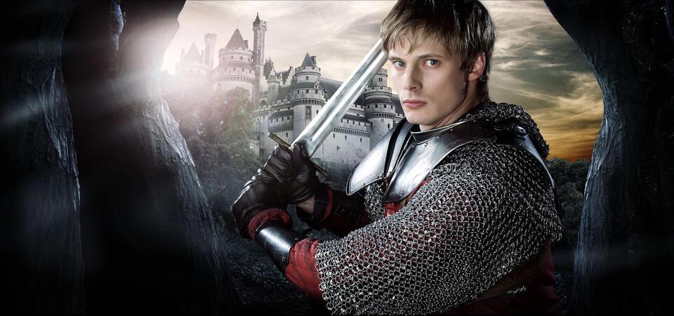 Bradley James in Merlin