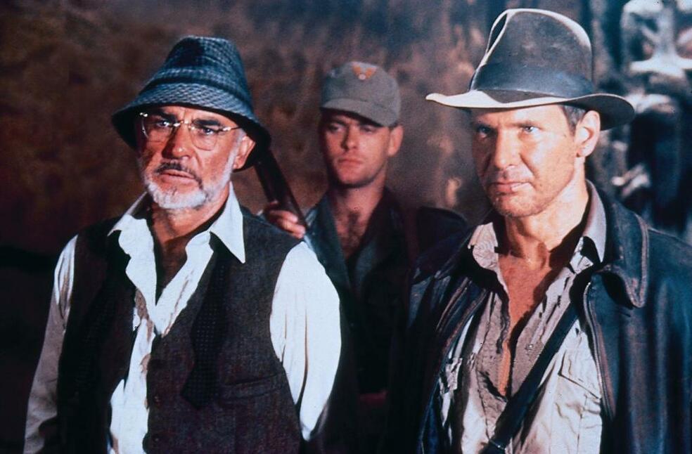 Indiana Jones und der letzte Kreuzzug mit Harrison Ford und Sean Connery