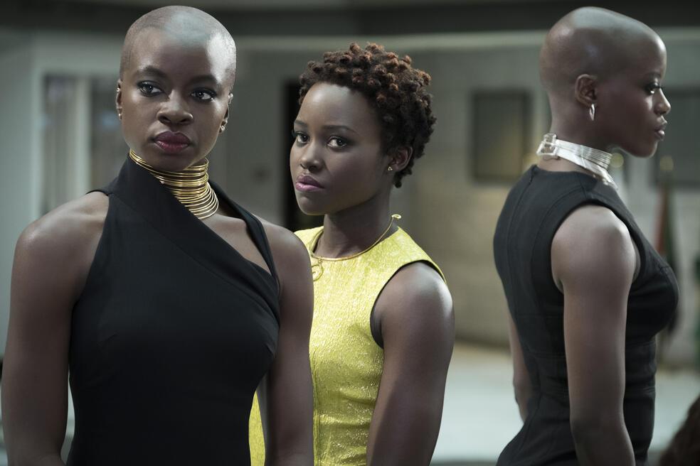 Black Panther mit Danai Gurira und Lupita Nyong'o