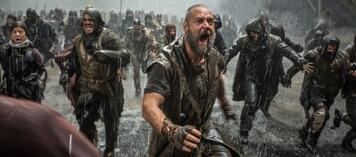 Noah steht im Regen