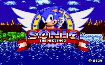 Der Startbildschirm des allerersten Sonic-Spiels
