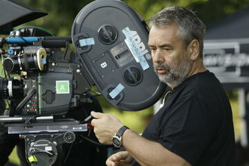 Luc Besson am Set von Malavita - The Family