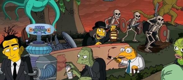 Unzählige Referenzen im Simpsons Intro