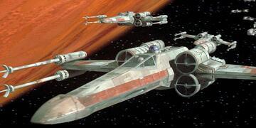 Ein X-Wing-Geschwader während der Schlacht um Yavin